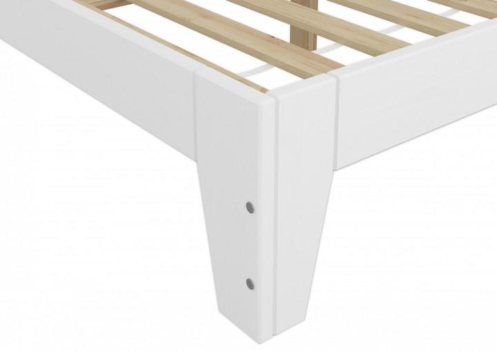 Holzbett weiß  Einzelbett mit Rollrost 120x200 Massivholz Kiefer Bettgestell ...