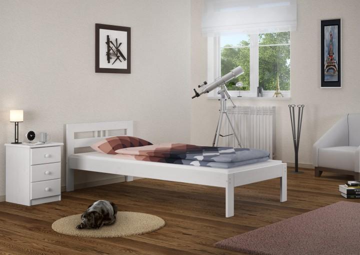 kinderbett futonbett kiefer massivholz wei 90x190 einzelbett federholzrahmen w fv. Black Bedroom Furniture Sets. Home Design Ideas