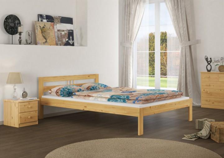 doppelbett futonbett 140x200 kieferbett massivholz natur rollrost matratze m. Black Bedroom Furniture Sets. Home Design Ideas