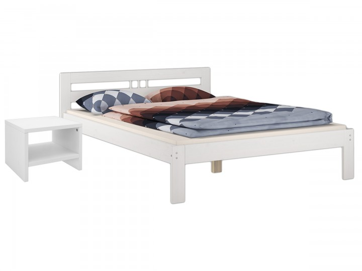 futonbett kiefer massiv weiss doppelbett 140x200 massivholz rollrost nachttisch w k5. Black Bedroom Furniture Sets. Home Design Ideas