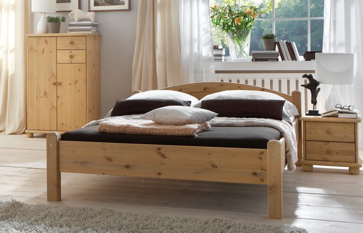 doppelbett futonbett 140x200 kiefer massiv franz sisches bettgestell mit rollrost. Black Bedroom Furniture Sets. Home Design Ideas