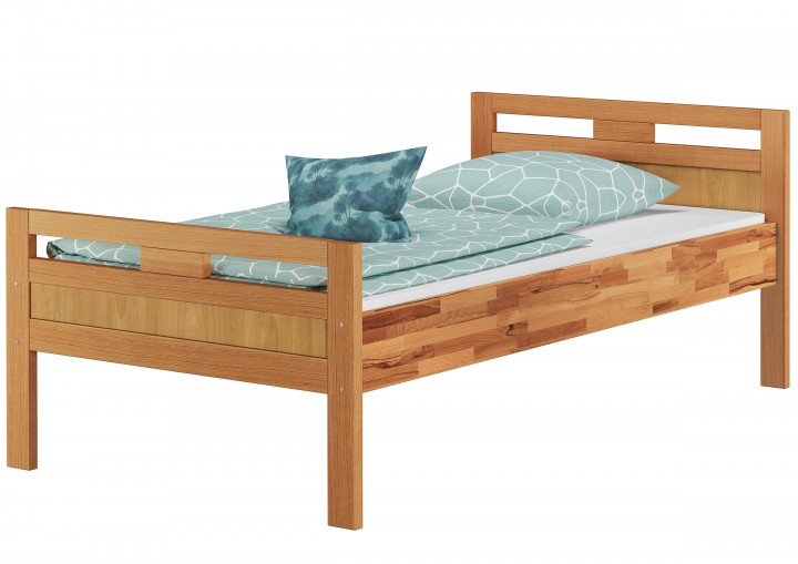 massivholzbett seniorenbett buche natur 90x200 einzelbett hohes bett komforth he or. Black Bedroom Furniture Sets. Home Design Ideas