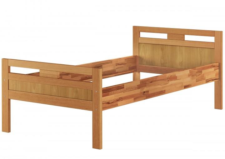 massivholzbett seniorenbett buche natur 100x200 einzelbett hohes bett komforth he or. Black Bedroom Furniture Sets. Home Design Ideas