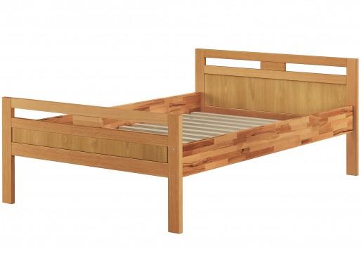 massivholzbett seniorenbett buche natur 120x200 einzelbett hohes bett federholzrahmen. Black Bedroom Furniture Sets. Home Design Ideas