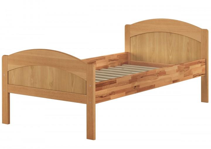 massivholzbett geschwungenes seniorenbett buche natur 120x200 bettgestell mit rollrost. Black Bedroom Furniture Sets. Home Design Ideas