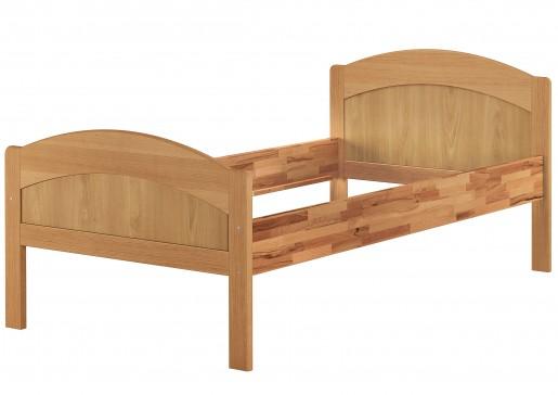 massivholzbett geschwungenes seniorenbett buche 120x200 einzelbett bettgestell or. Black Bedroom Furniture Sets. Home Design Ideas
