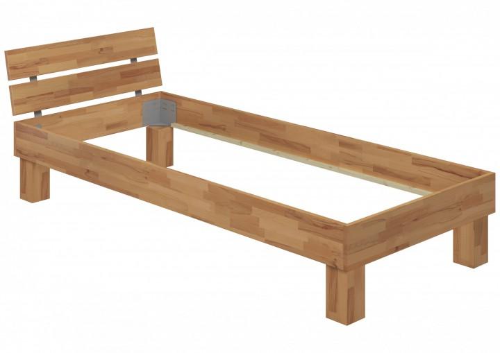 einzelbett buche bettgestell natur 90x200 massivholzbett jugendbett ohne zubeh r or. Black Bedroom Furniture Sets. Home Design Ideas