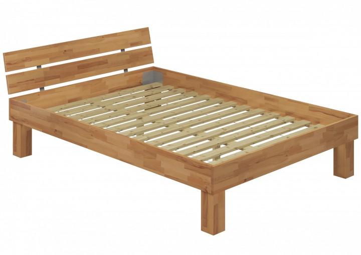hohes massivholzbett doppelbett buche 140x200 seniorenbett inkl rollrost. Black Bedroom Furniture Sets. Home Design Ideas