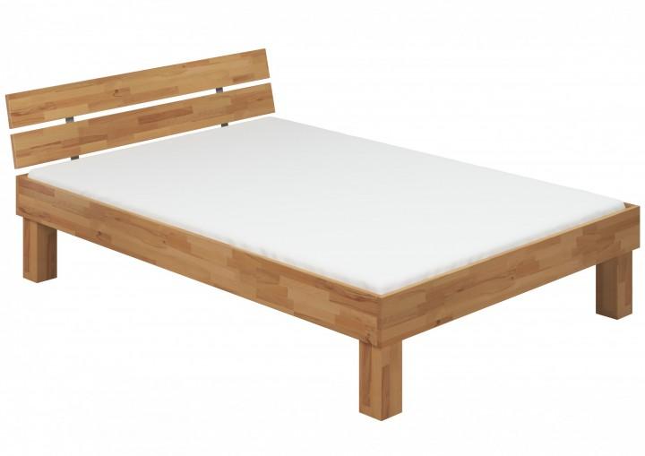 doppelbett buche 140x220 hohes massivholzbett seniorenbett inkl rollrost matratze. Black Bedroom Furniture Sets. Home Design Ideas