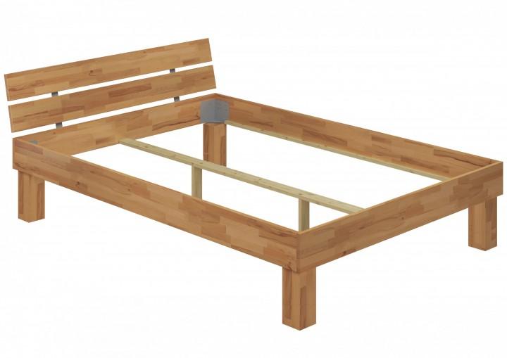 Doppelbett buche 140x200 hohes massivholzbett seniorenbett for Hohes bett 140x200