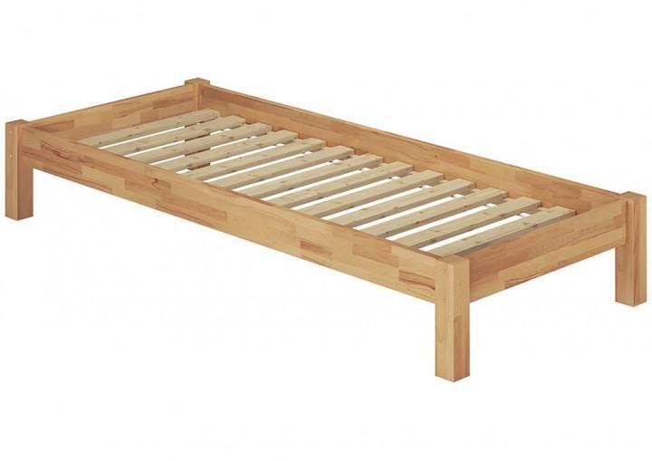 einzelbett 100x220 berl nge futon g stebett buche massiv bettgestell mit rollrost. Black Bedroom Furniture Sets. Home Design Ideas