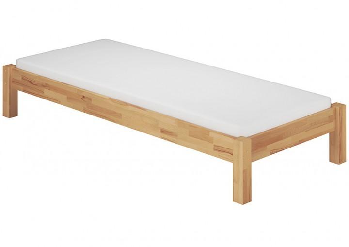 einzelbett 100x220 berl nge futon g stebett buche bettgestell matratze rollrost m. Black Bedroom Furniture Sets. Home Design Ideas