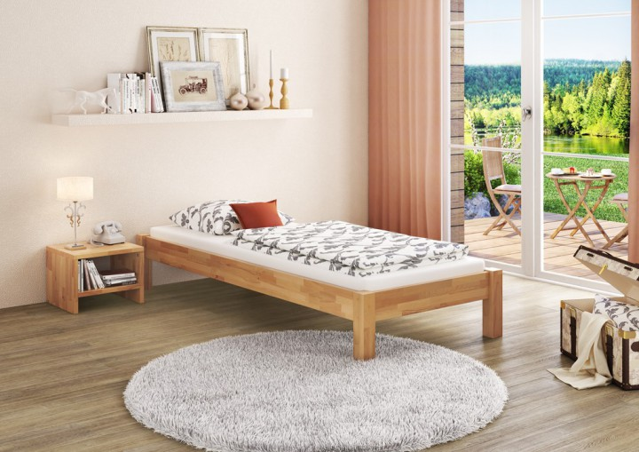 jugendbett 120x200 gallery of bett x kiefer lackiert x. Black Bedroom Furniture Sets. Home Design Ideas