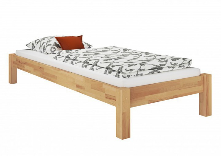 einzelbett in berl nge 120x220 buche massivholz bettgestell ohne rollrost or. Black Bedroom Furniture Sets. Home Design Ideas