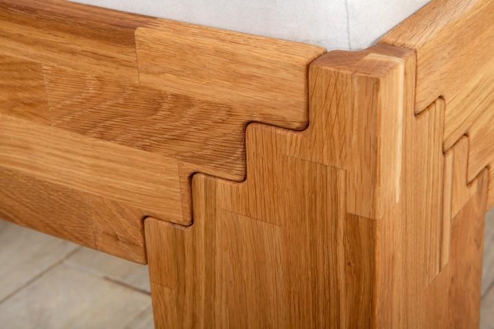 futonbett doppelbett 140x200 eichebett massiv ge lt matratze rollrost m doppelbetten. Black Bedroom Furniture Sets. Home Design Ideas