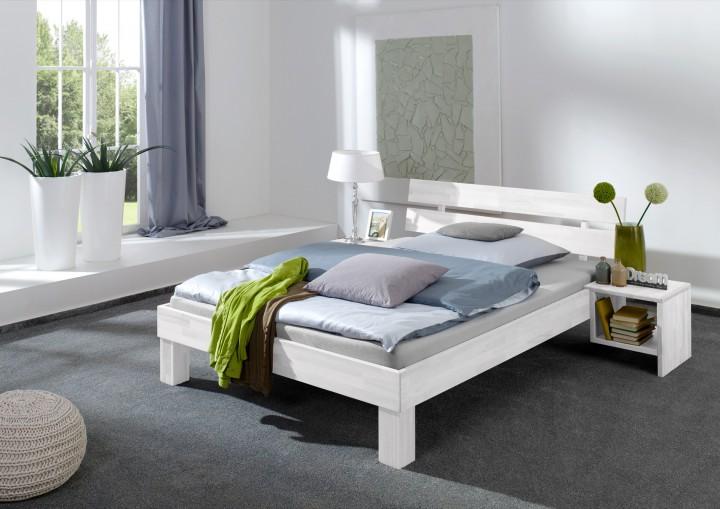 einzelbett buche massiv 90x200 bett mit rollrost matratze. Black Bedroom Furniture Sets. Home Design Ideas