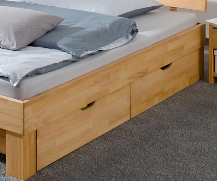 einzelbett mit bettkasten buche. Black Bedroom Furniture Sets. Home Design Ideas