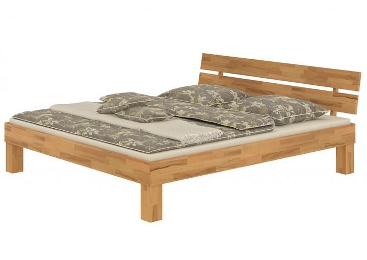 buchenholzbett mit kingsize 180x220 ehebett natur doppelbett matratze rollrost m. Black Bedroom Furniture Sets. Home Design Ideas