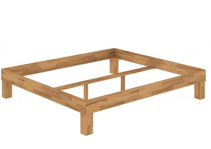 franz sisches bett doppelbett 140x200 bio buche natur ge lt bettrahmen futonbett m. Black Bedroom Furniture Sets. Home Design Ideas
