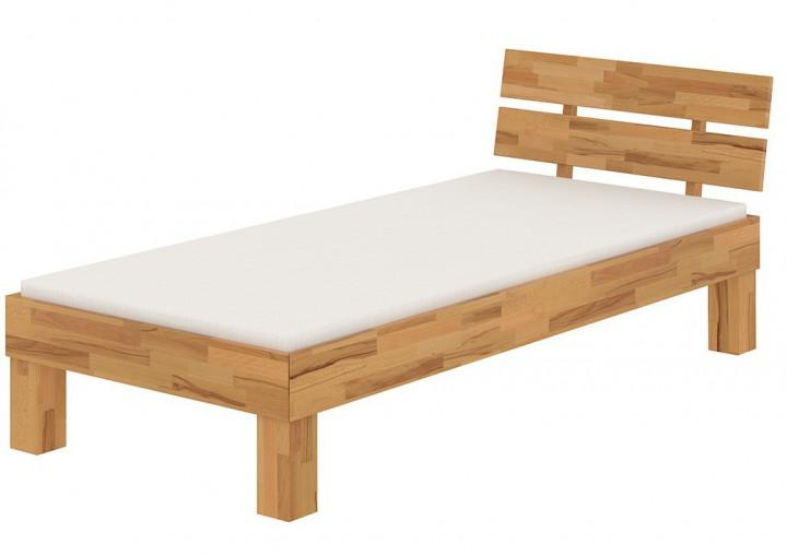 holzbett eiche massiv einzelbett 100x200 bettgestell mit. Black Bedroom Furniture Sets. Home Design Ideas