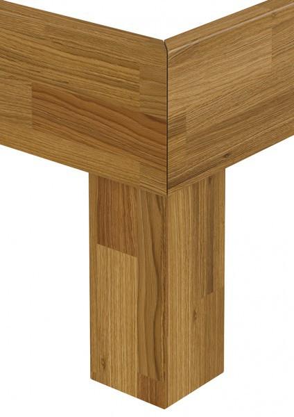 doppelbett franz sisches bett 140x200 futonbett massivholzbett eiche rollrost. Black Bedroom Furniture Sets. Home Design Ideas