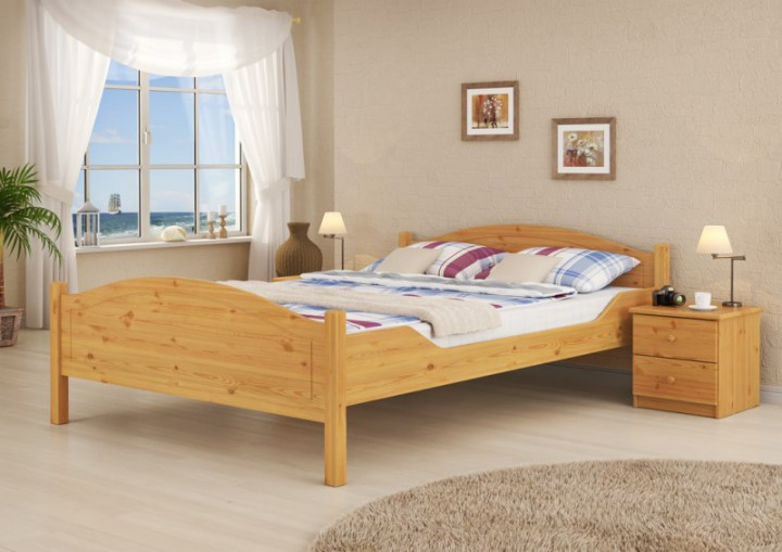 doppelbett kiefer natur 140x200 massivholzbett matratze. Black Bedroom Furniture Sets. Home Design Ideas