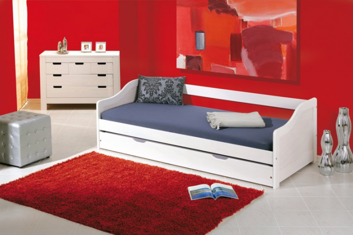 sofabett leonie 90x200 mit 2 schlafpl tzen. Black Bedroom Furniture Sets. Home Design Ideas