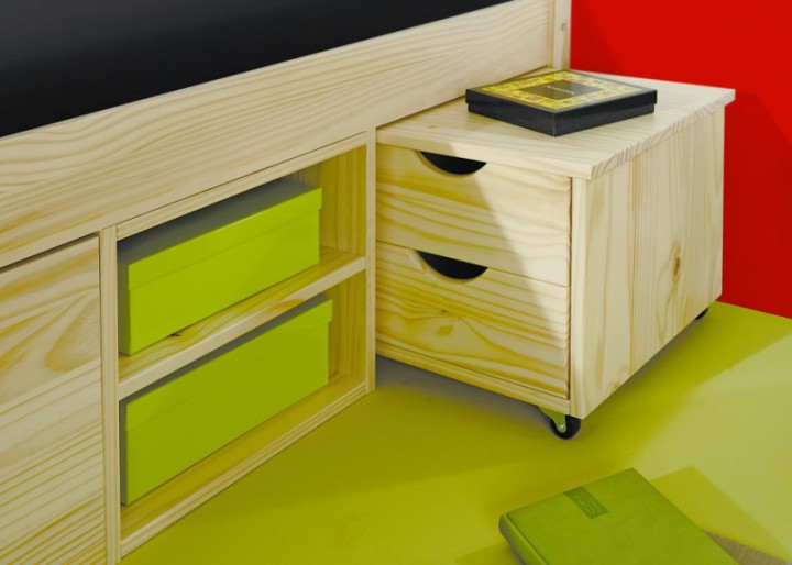 funktionsbett claas 140x200 massivholz kiefer mit. Black Bedroom Furniture Sets. Home Design Ideas