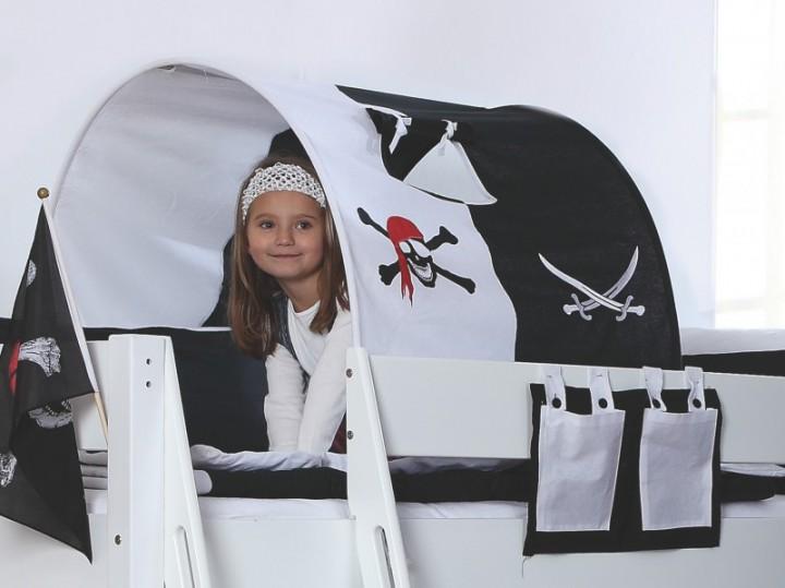 90 18 pirat relita tunnel f r etagenbett beni schwarz wei. Black Bedroom Furniture Sets. Home Design Ideas