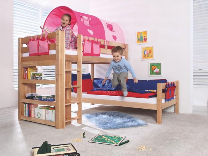 90 18 pink herz relita tunnel f r etagenbett beni l. Black Bedroom Furniture Sets. Home Design Ideas