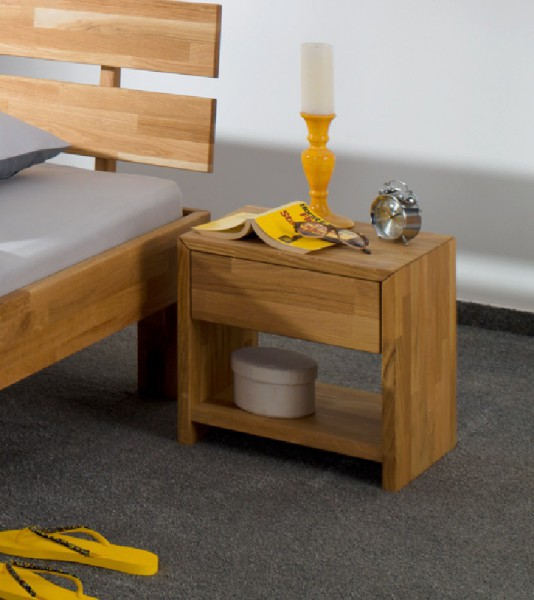 nachttisch holz. Black Bedroom Furniture Sets. Home Design Ideas