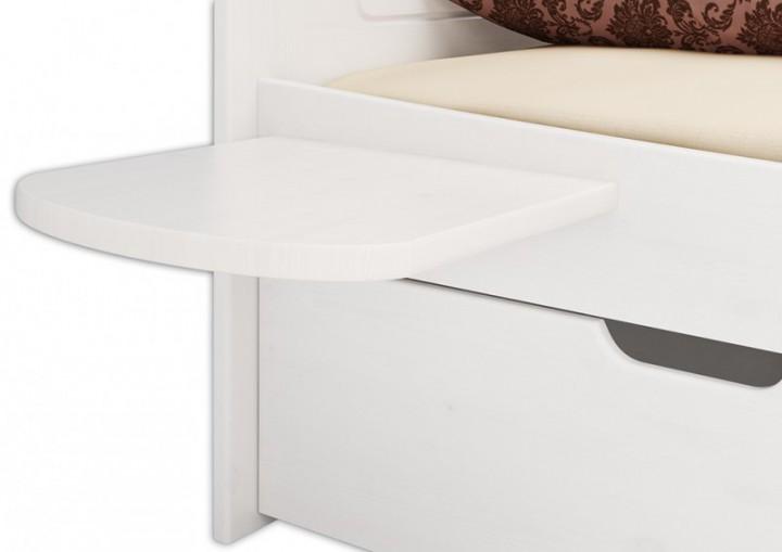 w bettablage 2 st ck kiefer massiv wei. Black Bedroom Furniture Sets. Home Design Ideas