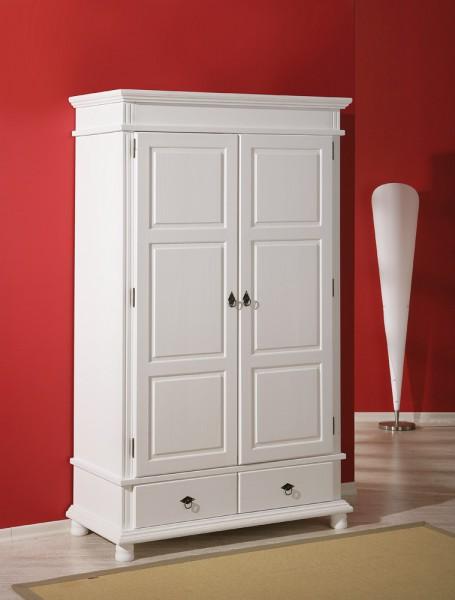 kleiderschrank dielenschrank massivholz wei. Black Bedroom Furniture Sets. Home Design Ideas