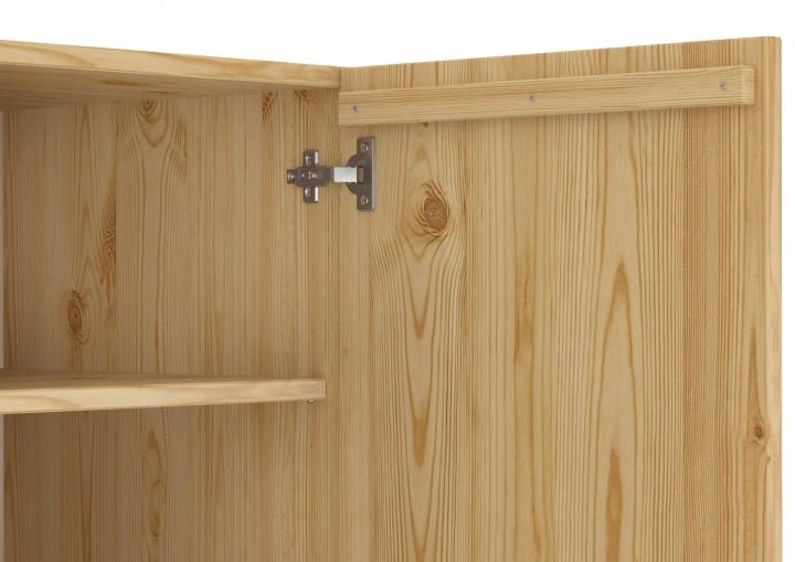 abschlie barer massivholzschrank als spind mit vielen f chern aus kiefer flur und. Black Bedroom Furniture Sets. Home Design Ideas