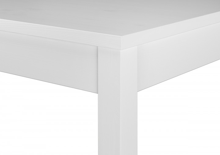 tisch 70x120 schlichter wei er esstisch massivholz a w essgruppen wohn u. Black Bedroom Furniture Sets. Home Design Ideas