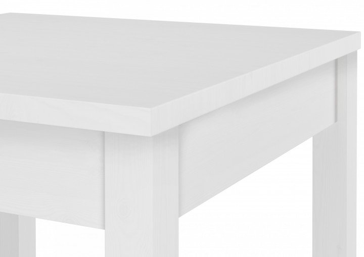 90.70-53 W Tisch Esstisch weiß Massivholztisch 120x75 cm ...