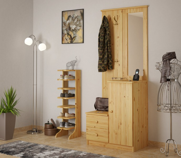 schuhregal schuhst nder holz kiefer massiv. Black Bedroom Furniture Sets. Home Design Ideas