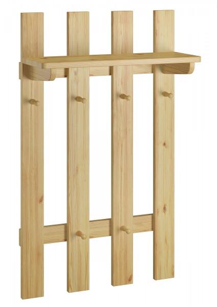 garderobenpaneel flurgarderobe kleiderhaken aus kiefer massivholz flur und diele. Black Bedroom Furniture Sets. Home Design Ideas