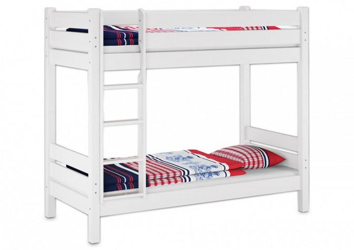etagenbett f r erwachsene wei 90x200 cm nische 100 cm mit 2 rollroste u 2 matratzen. Black Bedroom Furniture Sets. Home Design Ideas