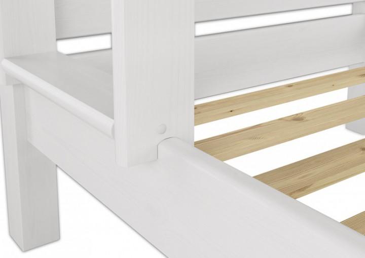 etagenbett f r erwachsene 80x200 wei nische 100 teilbar mit 2 rollroste w t100. Black Bedroom Furniture Sets. Home Design Ideas