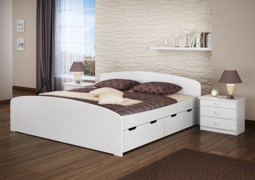 Funktionsbett Doppelbett Bettkasten Rollrost 180x200 Seniorenbett Massivholz Weiß 60.50-18 W