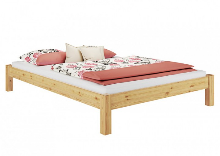 bettgestell kiefer natur doppelbett 140x200. Black Bedroom Furniture Sets. Home Design Ideas