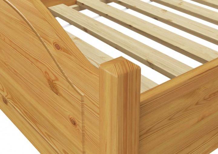 Massivholz bett kiefer natur 100x200 einzelbett rollrost for Wohnzimmer 4 x 10