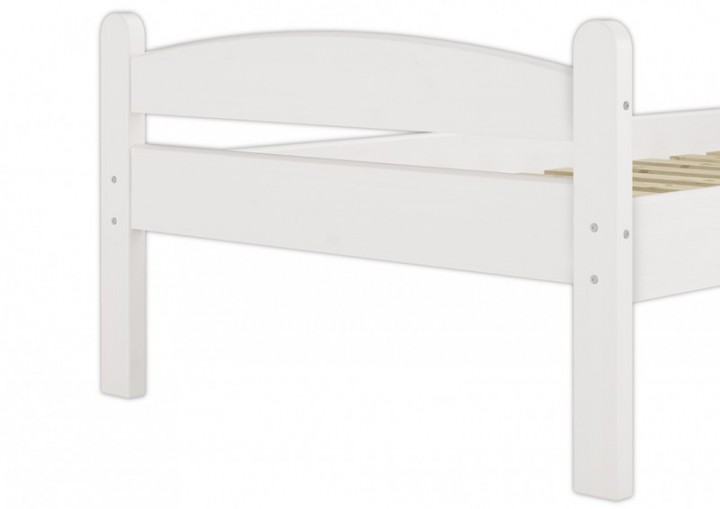 einzelbett massivholz kiefer wei 90x200 cm stabiles. Black Bedroom Furniture Sets. Home Design Ideas
