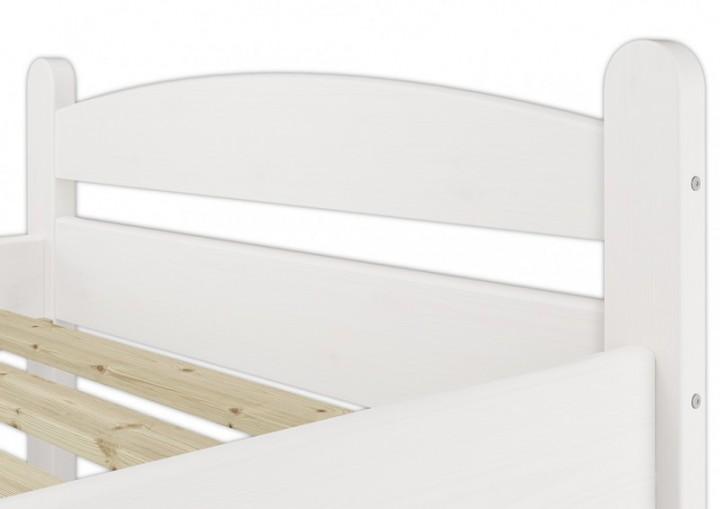 stabiles bettgestell kiefer massiv wei 100x200 einzelbett. Black Bedroom Furniture Sets. Home Design Ideas