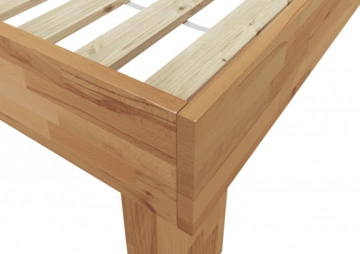doppelbett futonbett 140x200 massivholz-bettgestell buche natur, Hause deko