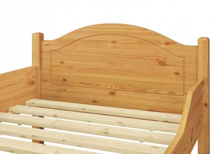 Einzel-Bett Gästebett Jugendbett Kiefer natur massiv ...