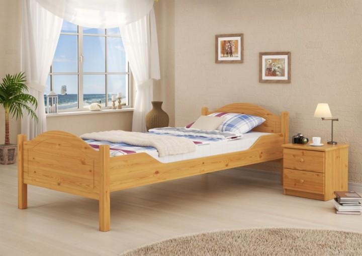 massivholz-bett kiefer natur 100x200 einzelbett rollrost matratze, Hause deko