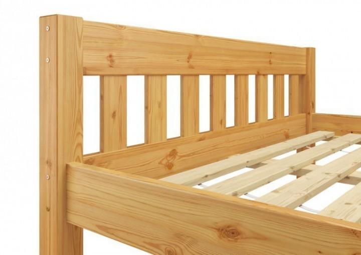 futonbett einzelbett 100x200 massivholzbett kiefer natur, Hause deko