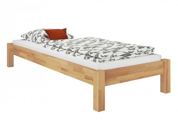 einzelbett futonbett 80x200 massivholz buchebett massiv rollrost matratze m. Black Bedroom Furniture Sets. Home Design Ideas